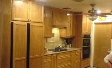 Oak recess panel cabinets