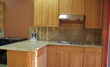 Pre-fabricated kitchen cabinets